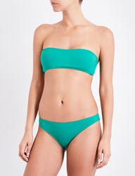 French Connection Bandeau Bikini Top Verdant Green