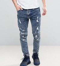 Cayler And Sons Jeans With Extreme Rips In Reg Fit Blue