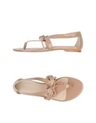 Hoss Intropia Thong Sandals Light Brown