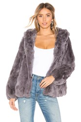 Heartloom Yuko Fur Jacket Gray