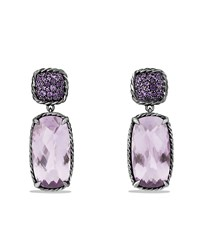 Chatelaine Drop Earrings With Lavender Amethyst And Purple Sapphires David Yurman Silver