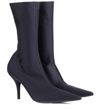 Balenciaga Knife Stretch Jersey Ankle Boots Black