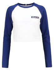Ellesse Fia Long Sleeved Top Optic White Blue Depths