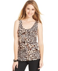 Style And Co. Printed Tiered Tank Top