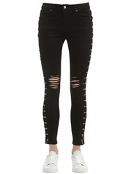 Amiri Chains Embellished Destroyed Denim Jeans