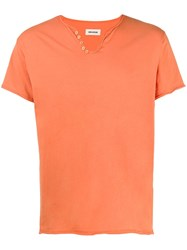 Zadig And Voltaire Monastir Button Embellished Cotton T Shirt 60