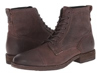 Frye Everett Lace Up Dark Brown Distressed Nubuck 2 Men's Lace Up Boots