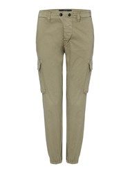 Replay Stretch Satin Trousers Green