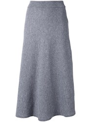 Chloe Knitted Midi Skirt Grey
