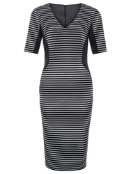 Planet Striped Ponte Shift Dress Navy