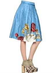 Antonio Marras Floral Metallic Techno Brocade Skirt