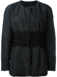 Moncler Gamme Rouge Embroidered Waist Jacket Black