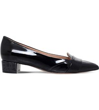 Kurt Geiger Dara Patent Leather Loafers Black