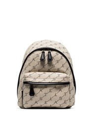 Stella Mccartney Neutral Mini Logo Cotton Backpack Neutrals