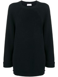 Red Valentino Crew Knit With Long Sleeves Blue