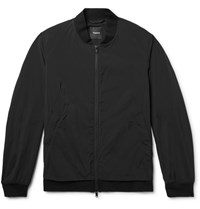 Theory Slim Fit Stretch Shell Bomber Jacket Black