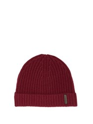 Burberry Logo Patch Cashmere Beanie Burgundy