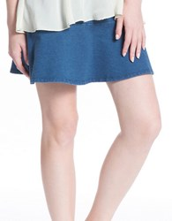 Plenty By Tracy Reese Fit And Flare Denim Skirt Cosmos