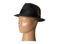 Stacy Adams Polybraid Pinch Front Fedora With Silk Band Black Fedora Hats