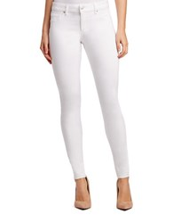 Jessica Simpson Kiss Me Super Skinny Solid Jeans White