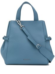 Orciani Logo Plaque Tote Bag Blue