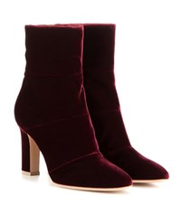 Gianvito Rossi Velvet Ankle Boots Purple