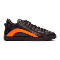 Dsquared2 Black And Orange Fluo Sneakers
