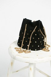 Free People Womens Suede Studded Party Pouch