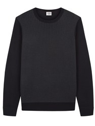Jaeger Lou Dalton X Houndstooth Sweater Charcoal