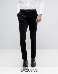 Only And Sons Super Skinny Suit Trouser In Cord Black