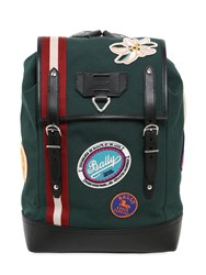 Bally Canvas Backpack W Patches