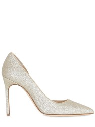Manolo Blahnik 105Mm Collina Glittered D'orsay Pumps