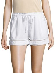 Bella Dahl Eyelet Trim Shorts White