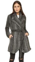 Bb Dakota Abra Patterned Coat Black