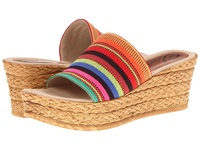Sbicca Puerto Red Multi Women's Wedge Shoes