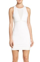Ali And Jay Women's Mesh Inset Minidress White