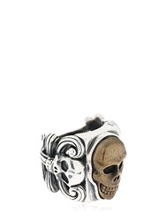 Cantini Mc Firenze Liberty Vintage Skull Ring Silver