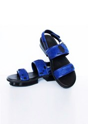 Jamie Wei Huang Nibbana Leather Sandal Blue