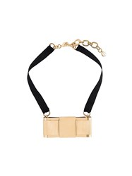 Dolce And Gabbana Bow Necklace Black