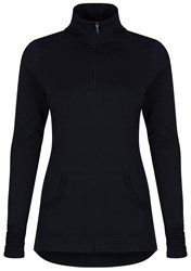 Cuddl Duds Long Sleeve 1 2 Zip Top Black