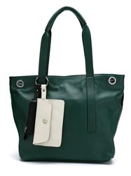 Mara Mac Leather Tote Bag Green