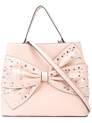 Christian Siriano Embellished Bow Tote Bag Pink