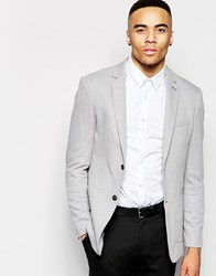 Jack And Jones Jack And Jones Premium Pique Blazer In Slim Fit Dark Grey