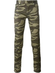 Christian Dior Dior Slim Camouflage Trousers Green