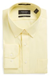 Men's Nordstrom Men's Shop Trim Fit Non Iron Dress Shirt Yellow Canary
