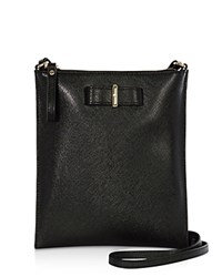 Karen Millen Bow Leather Crossbody Black
