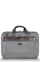 Briggs And Riley Work Slim Briefcase Grey