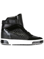 Michael Michael Kors Lasered Hi Top Sneakers Black