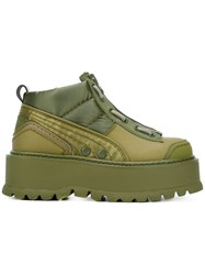 Puma Fenty Platform Lace Up Sneakers Green