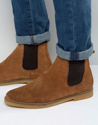 Base London Ferdinand Suede Chelsea Boots Tan